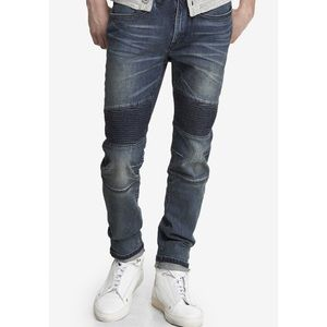 Express Men's Blue Alec Quilted Super Skinny Jean